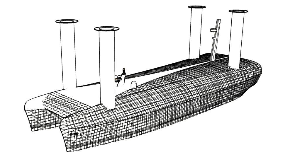 Zem Tech Flettner rotor boat